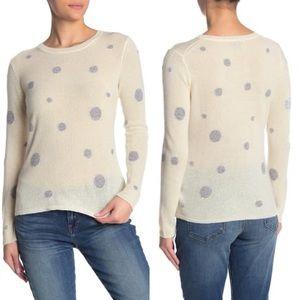 Quinn Sparkle Polka Dot Cashmere Sweater